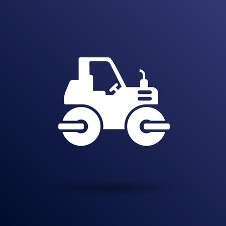 asphalt paving: Rammer Major Construction Rink Asphalt icon vector button  symbol concept. Illustration