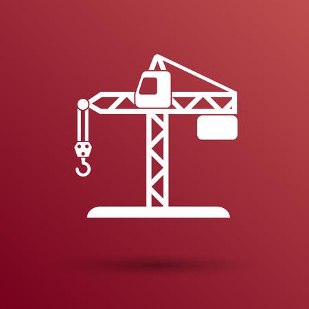 hook up: building crane icon vector button  symbol concept. Illustration