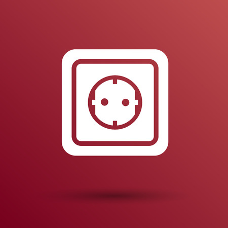 amperage: electric outlet  icon vector button  symbol concept. Illustration
