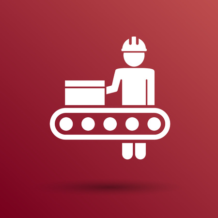 lathe: Engineering workshop Industrial operation icon vector button  symbol concept.