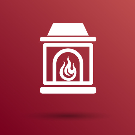 fireplace: fireplace icon vector button  symbol concept.