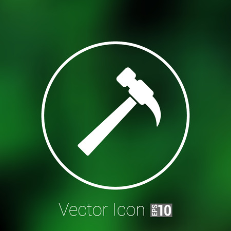 tooling: hammer icon vector button  symbol concept. Illustration