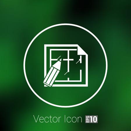 plan maison: House plan icon vector icon button  symbol concept.