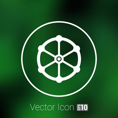 stopcock: valve icon vector button  symbol concept.