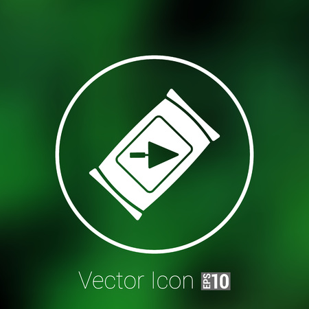 시멘트: cement bag icon vector button  symbol concept