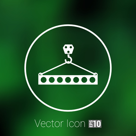 heavy lifting: Lifting crane doing heavy lifting icon vector button  symbol concept Illustration