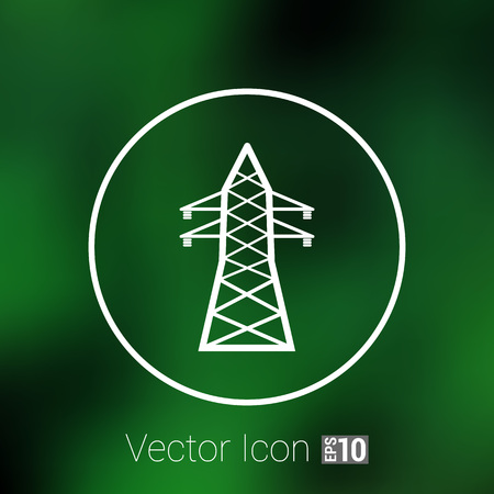 high-voltage line icon vector button  symbol concept. Illustration