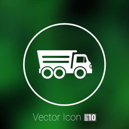 tipper: tipper truck building  icon vector button  symbol concept.