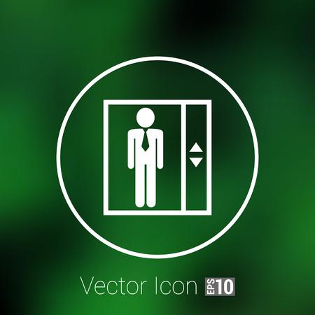 cerrar la puerta: ascensor icono del botón del vector del concepto del símbolo. Vectores