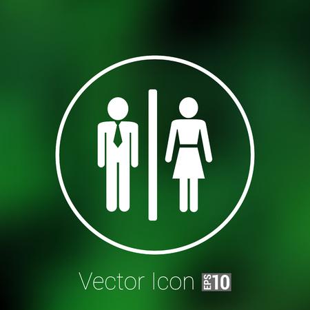 restroom sign: Man Woman restroom sign icon vector button  symbol concept.