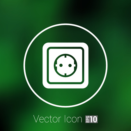 outlet: electric outlet  icon vector button  symbol concept. Illustration