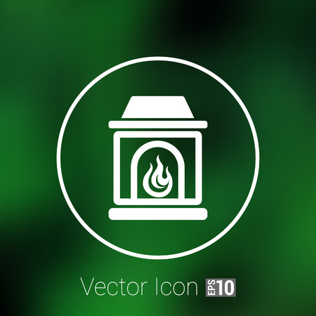 woodpile: fireplace icon vector button  symbol concept.