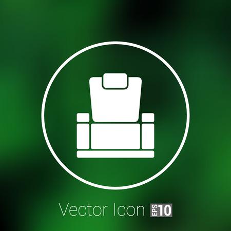 easy chair: chair icon vector button  symbol concept.