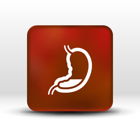 Human stomach icon human cross intestinal organ. Illustration