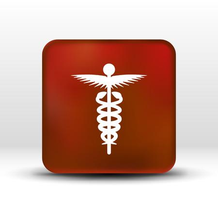 medicine icon logo symbol snake caduceus doctor. Logo