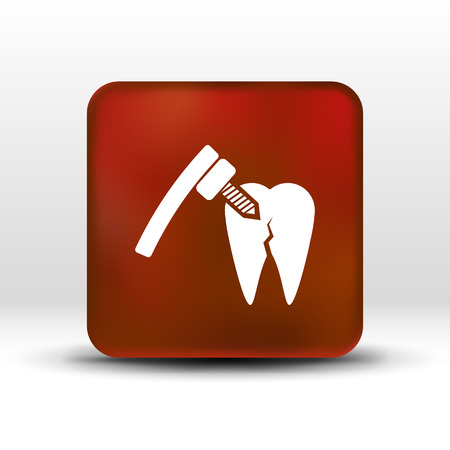 hygienist: dental treatment tool icon care drilling tooth.