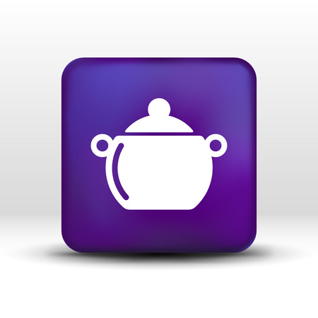 pot casserole cooking Vector image sign.