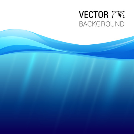 Water wave transparent surface with, vector illustration