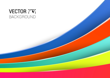 full color: 3d abstract lines full color background vector illustration