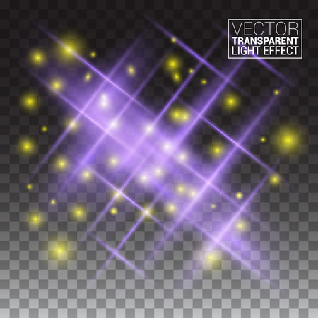 starlet: Transparent Vector Effects Series. Easy replacement of the background light rays shine starlet explode spark sparkle illuminated glowing Illustration