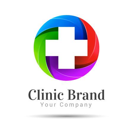 Medicine idea logo template
