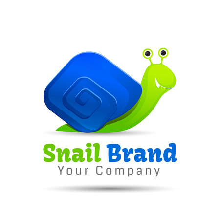 success concept: snail concept of achieving success Illustration