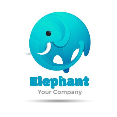 Elefante gran vector Ilustración para empresa de diseño de plantilla de negocio. Concepto abstracto creativo Foto de archivo - 65441982