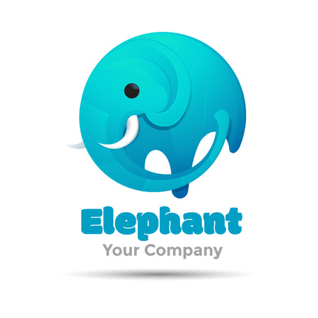 Elephant big vector Illustration for business template design company. Creative abstract concept.