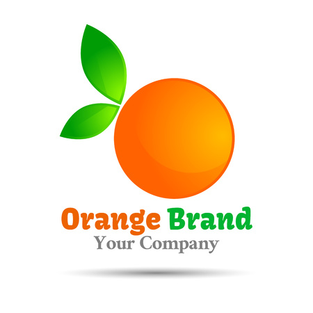 orange Vector design illustration. Template for your business company. Creative abstract colorful concept.