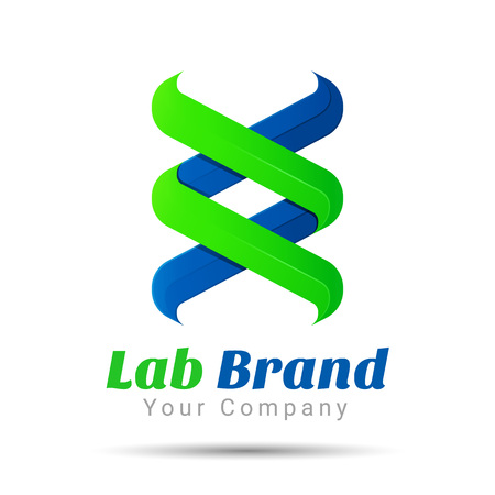 bio technology, biology design, DNA template. Vector business icon. Corporate branding identity design illustration for your company. Creative abstract concept.