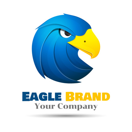 snatched: Eagle template. Vector business icon. Corporate branding identity design illustration for your company. Creative abstract concept.