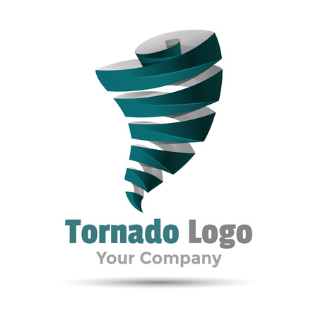 tornado wind: Hurricane typhoon tornado wind storm. Volume Colorful 3d Vector Design Corporate identity