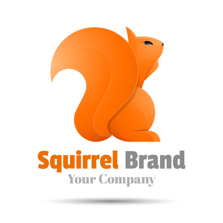 sneaky: squirrel Colorful Vector 3d Volume Design Corporate identity Illustration