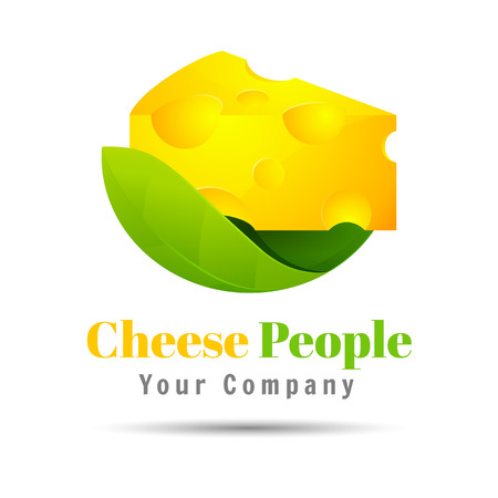 cheese Volume Colorful. 3d Vector Design. Corporate identity on a white background Illustration