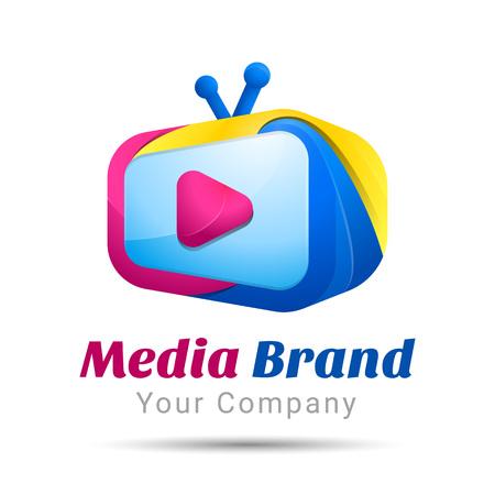 brand activity: Screen TV color range Volume Colorful. 3d Vector Design. Corporate identity