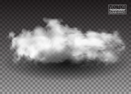 fluffy: Fluffy white clouds. Realistic Illustration