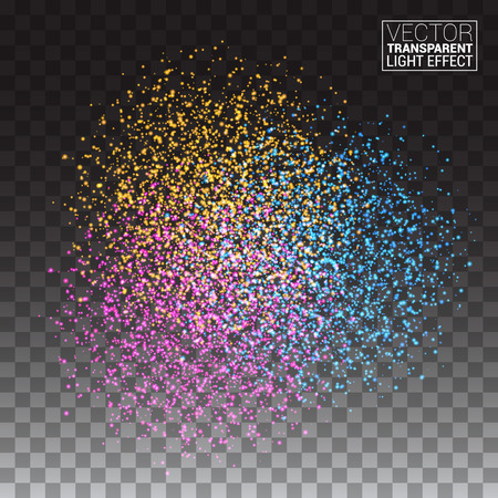 Abstract Colorful Burst Effect of Colors Paint Splash Glitter on Transparency Background. Element for your design. Illustration