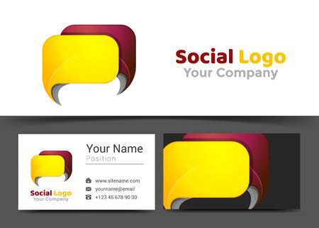 Chat News Corporate Logo And Business Card Sign Template. Creative ...