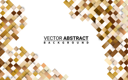 Cubic Pattern Seamless Golden. Colorful Grid. Abstract Geometric. Effect Realistic Design Elements. Vector Illustration Modern Background. Illustration