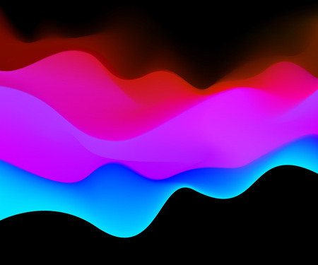 ttemplate: Color Mountains Waves abstract Surface Colored warm cool shade. TTemplate Cover Flyers Print Web Banner. Red blue color Modern design. Effect Realistic Elements. Vector Illustration Background. Illustration