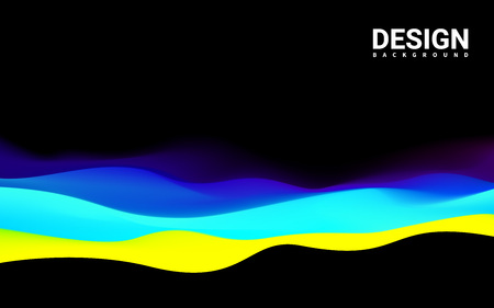 ttemplate: Yellow blue color Modern design. Mountains Waves abstract Surface Colored warm cool shade. TTemplate Cover Flyers Print Web Banner. Effect Realistic Elements. Vector Illustration Background.