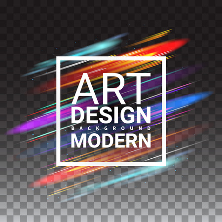 ttemplate: Modern Art Graphics. Dynamic Stylish Light. Invitations Gift Card brochures TTemplate Cover Print Web Banner Frame for Text. Effect Realistic Elements. Vector Illustration Transparent Background.