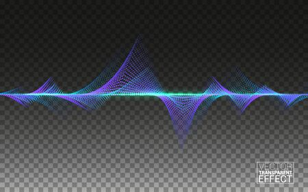 Abstract Colorful Wave. Big data. Lines Flowing Isolated on Ttransparent Background Vector Design Elements Concept Sound. Music Technology Science.