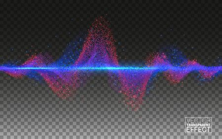 Lines Design Elements Concept Sound. Music Technology Science. Equalizer Sound Wave Colorful Musical bar. Big data. Isolated on Transparent Background Vector