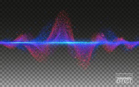 Linien-Design-Elemente-Konzept-Sound. Wissenschaft der Musiktechnologie. Equalizer-Schallwelle Bunte Musikbar. Große Daten. Isoliert auf transparentem Hintergrund Vektor Vektorgrafik