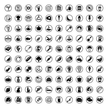 100 Elegant Food cooking Icons Set Created For Mobile Web And Applications