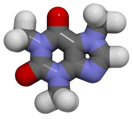 3D molecular structure of caffeine Stock Photo - 12421858
