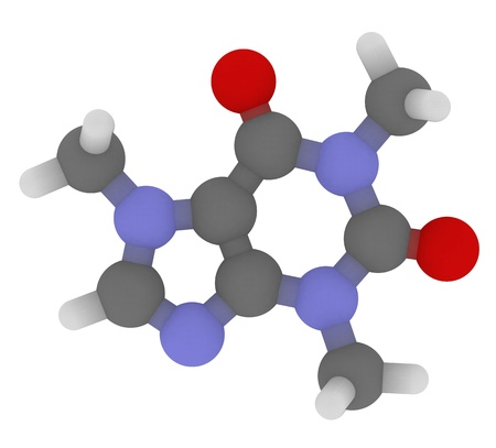 3D molecular structure of caffeine Stock Photo - 12421833