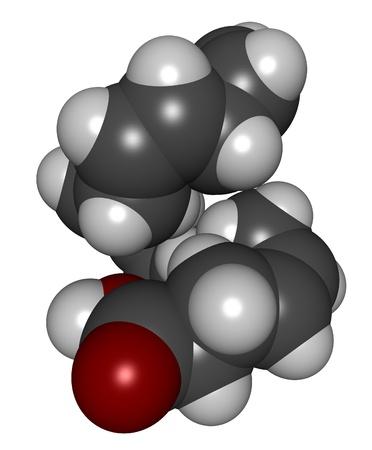 triglycerides: Estructura 3D de �cido docosahexaenoico (DHA, �cidos grasos omega-3 los �cidos grasos)
