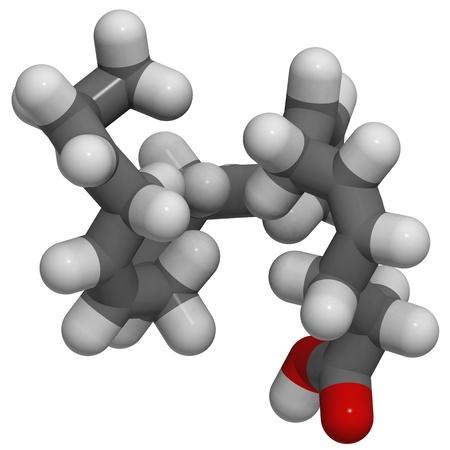 triglycerides: Estructura 3D de �cido docosahexaenoico (DHA, �cidos grasos omega-3 �cidos grasos)